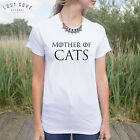 Mother Of Cats T-shirt Top Funny Slogan GoT Gift Dragons Thrones Crazy Cat Lady