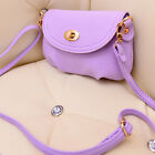 Women PU Leather Messenger Bag Crossbody Satchel Candy Colors stamp Gift