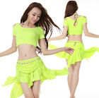 Comfy New 2015 Women Belly Dance Costume 2Pics Top Skirt Stage Summer
