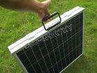 12V Folding Poly Solar Panel Kit battery charger camping Caravan boat motorhome