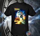 New Back To The Future Movie Poster Black Shirt