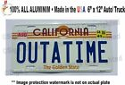 Back to the Future Delorean OUTATIME *EMBOSSED* Prop Replica License Plate