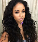 "14""~22"" Wavy 100% Brizilian remy Human Hair full/front lace wig with baby hair"