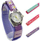 Ravel Girls Watch Kids Festival Flowers Design Hook & Loop Band, 3 Colors