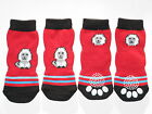 Non-Slip Dog Socks Red Puppy - Small to XL (10kg to 60kg)
