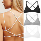 Cage Bralette Bustier Crop Top Criss Cross Padded Seamless Strappy Gym Workout