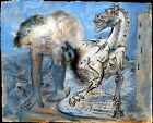 Pablo Picasso Faune, cheval canvas print giclee 8X12 & 12X17 reproduction