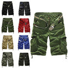 Men's Sports Pants Casual Army Cargo Combat Camo Camouflage Overall Shorts