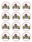 Horse Riding hobbie Animals  Edible Toppers Wafer/Icing cupcake x12Decoration