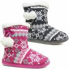 Ladies Slippers Women Girls Winter Warm Fur Luxury Ankle Boots Bootie Shoes Size