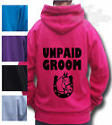 HORSE Riding t-shirt Children&Adult HOODIE IN ALL SIZES UNPAID GROOM