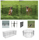 "Exercise Pens for Dogs & Pets SMALL Affordable 24"" Black Wire Ex Pen Play Yard"