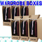 LARGE STRONG REMOVAL MOVING WARDROBE CARDBOARD BOXES WITH HANGERS