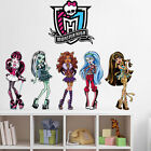 Monster High Characters Stickers Party Favors Kids Girls Decor Mural Home Decal