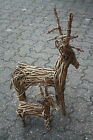 Natural Wicker Twig Willow Reindeer Christmas Ornament Decoration