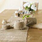 """Width 12"""" Hessian Table Runners Burlap & Lace Rustic Home Wedding Table Decor"""
