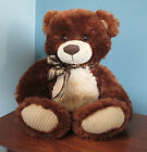 Large Musical Teddy Bear, 14 Inch Plush Stuffed Animal Golden and Chestnut Brown