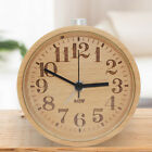 A-Leaf Handmade Classic Silent Beech Wood Alarm Clock with Nightlight Numbers