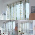 3 Colors Floral Tulle Voile Window Door Curtain Drape Panel Sheer Scarf Valances