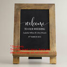 Personalised Custom Wedding Welcome Sign Sticker Decal Party Wall Mirror Removab