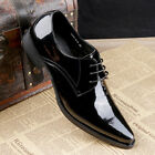 New Men's Dress Shoes Formal Real Leather Lace up Black Brown W0351