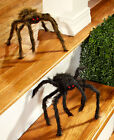 2 Poseable Spiders Halloween Decoration Haunted House Front Lawn Yard Garden New