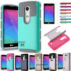 For LG Leon/C40/Sunset/Risio Slim Hybrid Shockproof Hard Rugged Armor Case Cover
