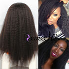 Brazilian Remy Human Hair Lace Front / Full Lace Wig Brazilian Kinky Straight