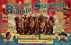 WILD BILL BUFFALO SHOW ~ Handcrafted Custom Made Wood Sign w/ Your Name ~ by PLD