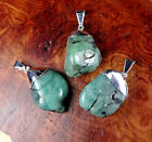 Emerald Necklace - Petite Tumbled Crystal Pendant (L3) - Natural Polished Stone