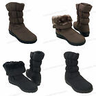 "New Women's Winter Boots 10""  Fur Lined Warm Side Zipper Snow Shoes, Sizes:5-11"