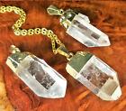 Quartz Necklace  Raw Crystal Point Pendant Lr20 Healing Crystals And Stones