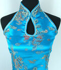 blue red navy blue black Chinese Silk Women's Dress/Cheong-Sam SZ:M-L-XL-XXL-3XL