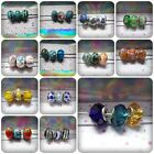 3 x Glass European Style Charm Beads - Fits Bracelet