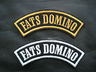 FATS DOMINO ROCK N ROLL SEW ON EMBROIDERED SHOULDER PATCH
