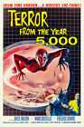 Vintage 1950s Atomic Era Sci Fi Movie Poster Terror From The Year 5000 Horror