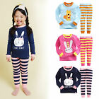 "Vaenait Baby Infant Toddler Kids Girls Clothes Pajama Set ""Stripe animal"" 12M-7T"