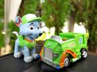 RARE Nickelodeon Paw Patrol Rocky The Recycling Pup Puppy Dog PVC Figure NEW