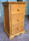 HANDMADE SOLID PINE ASHBOURNE STAINED BEDSIDE CABINET -FULLY ASSEMBLED