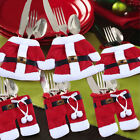 1pcs Red Christmas Santa Cloth Knife Fork Cover Bag Tabel Gift Decoration Xmas