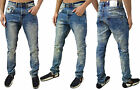 Mens Designer Arrested Denim Jeans Skinny Tapered Leg Stylish Pants Legend *SALE