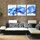 Blue Abstract Veil Scarf Poster Fine Art Print Large Wall Decor - Ready to Hang