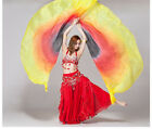 Isis Wings Belly Dance,100% Silk(2 wings+2 sticks+Bag)Quick& free Shipping USA.