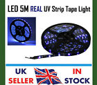LED 5M REAL UV Ultra Violet Flexible Strip Tape Light Purple - 5050 12V 150 LEDs