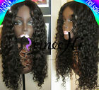 Lucy curly wavy 100% Brizilian remy human hair full/front lace wig 130% density