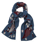 YUMI LADIES YAAA23 OWL WRAP SCARF TEAL RRP £30.00 VAR-SIZES