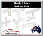 Plastic Barbed Connector Pipe Hose Joiner Tubing Fittings Air Fuel Water Norma