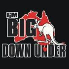 NEW I'M BIG DOWN UNDER KANGAROO T-Shirts Small to 5XL BLACK or WHITE