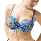 Brand New Panache Amalfi SW0396 Blue/Ivory Bikini Top Various Sizes