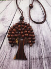 TREE OF LIFE NATURAL WOODEN BEAD HANDMADE NECKLACE
